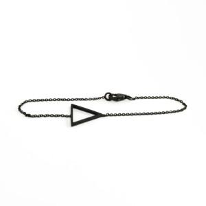 armband open triangle schwarz