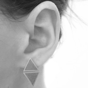 ohrstecker-zement-2-dreiecke-ohr